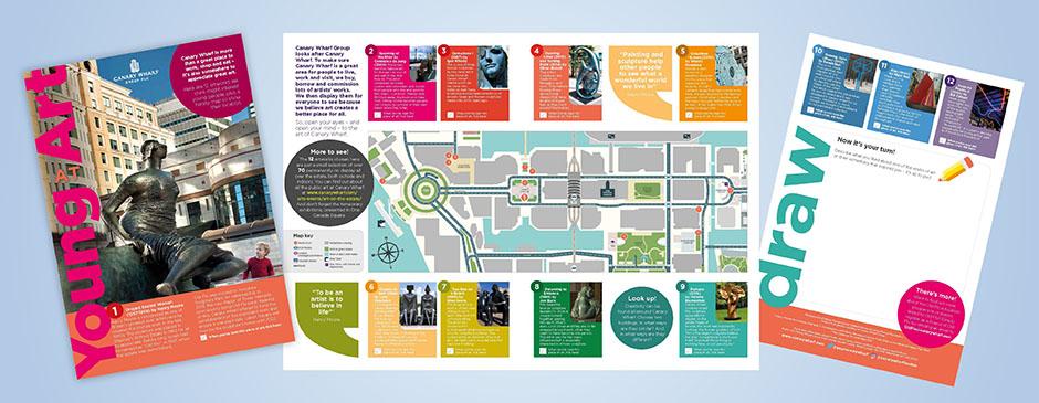 Children's art trail Canary Wharf
